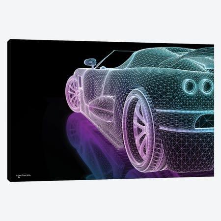 Speed Grid Neon Canvas Print #HMI80} by Johan Marais Canvas Artwork