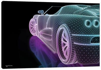 Speed Grid Neon Canvas Art Print