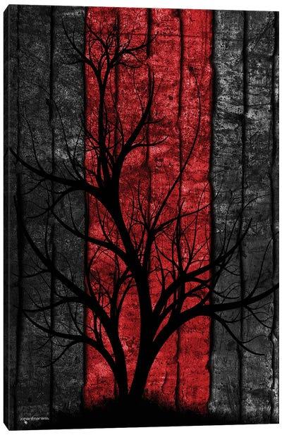 Silhouette Tree Canvas Art Print