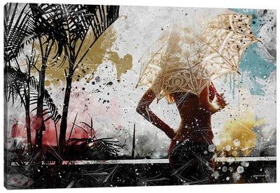 Sensual Tropical Summer Canvas Art Print