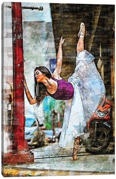 Urban Ballerina Canvas Art Print