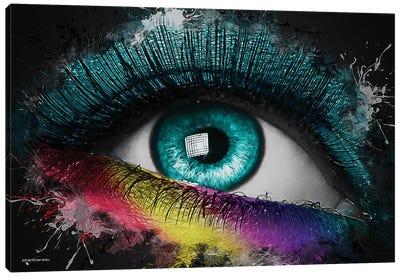 Colorful Eye Splash Art Canvas Art Print