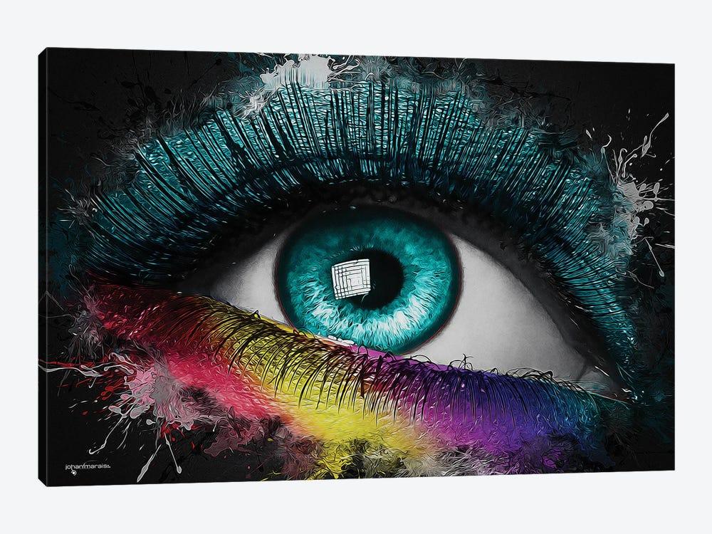 Colorful Eye Splash Art by Johan Marais 1-piece Canvas Art