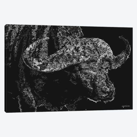 Big 5 Collection - Buffalo Canvas Print #HMI97} by Johan Marais Canvas Artwork