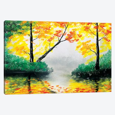 Quiet Autumn Landscape Canvas Print #HMK108} by Nicolay Homenko Art Print