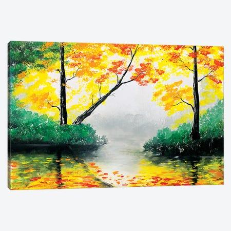 Quiet Autumn Landscape Canvas Print #HMK108} by Nicolay Homenko Art Print