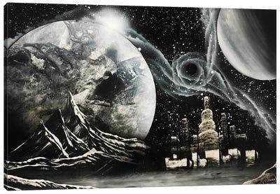 Black And White Cityscape Canvas Art Print