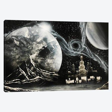 Black And White Cityscape Canvas Print #HMK10} by Nicolay Homenko Canvas Art Print