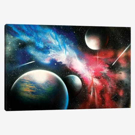 Realistic Space Canvas Print #HMK116} by Nicolay Homenko Canvas Art Print