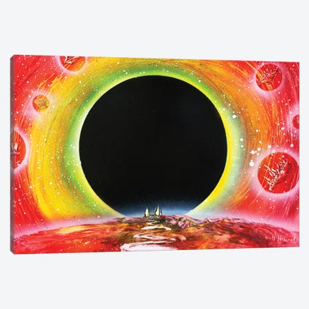 Black Hole Canvas Print #HMK11} by Nicolay Homenko Art Print