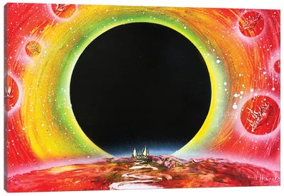 Black Hole Canvas Art Print