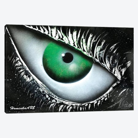 Reptile Eye Canvas Print #HMK122} by Nicolay Homenko Canvas Print