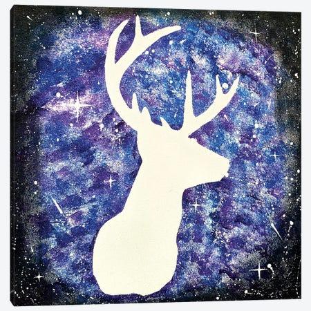 Space Deer III Canvas Print #HMK138} by Nicolay Homenko Canvas Art