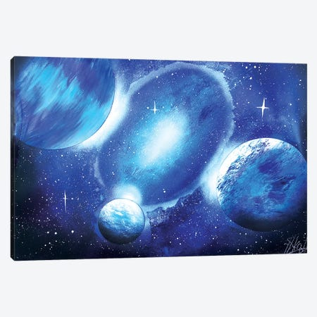 Space In Blue Theme Canvas Print #HMK139} by Nicolay Homenko Canvas Art