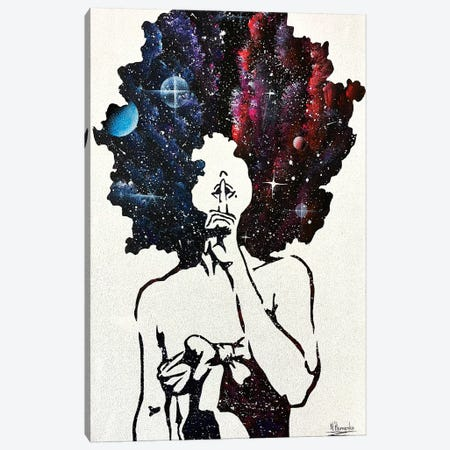 Space In Her Hair Canvas Print #HMK140} by Nicolay Homenko Art Print