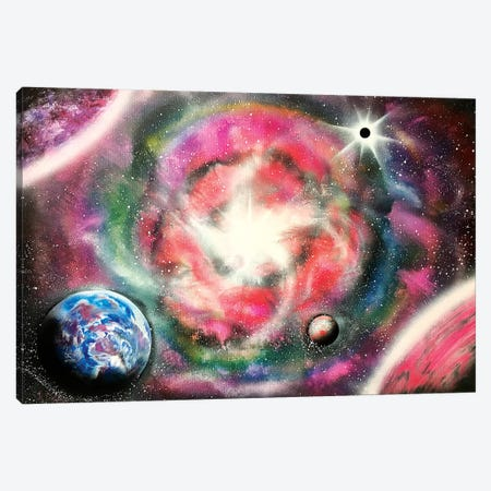 Space Nebula In Pink Colors Canvas Print #HMK145} by Nicolay Homenko Canvas Wall Art