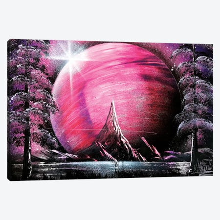 Space Pink Landscape Canvas Print #HMK146} by Nicolay Homenko Canvas Artwork
