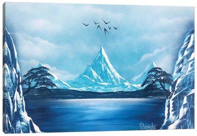 Blue Mountain Landscape Canvas Art Print
