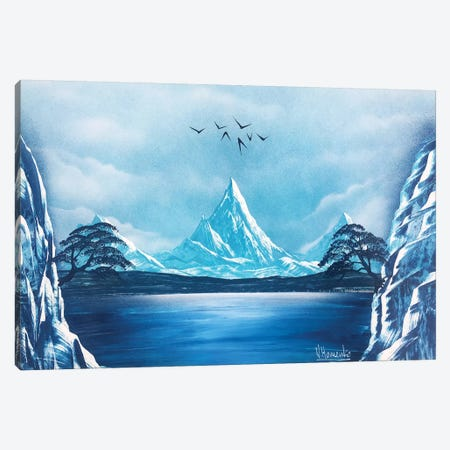 Blue Mountain Landscape Canvas Print #HMK15} by Nicolay Homenko Canvas Artwork