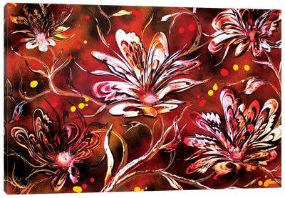 Brown Flowers Canvas Art Print