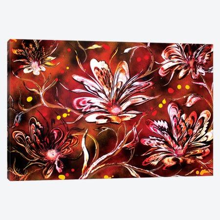 Brown Flowers Canvas Print #HMK168} by Nicolay Homenko Canvas Print