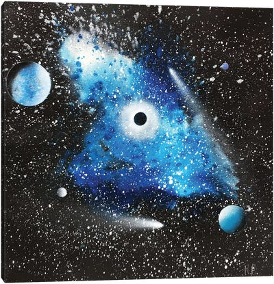 Blue Nebula Canvas Art Print