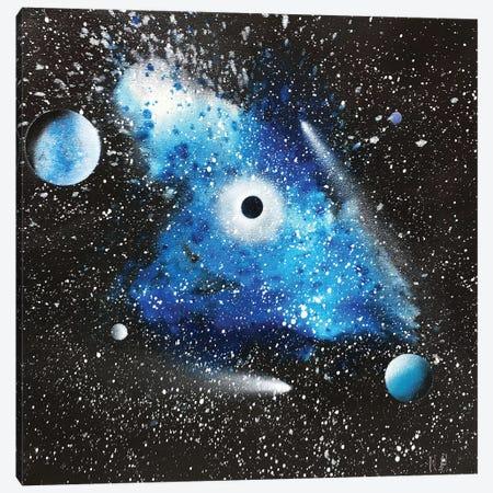 Blue Nebula Canvas Print #HMK16} by Nicolay Homenko Canvas Artwork