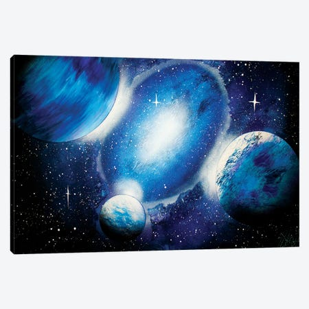 Deep Blue Space Canvas Print #HMK171} by Nicolay Homenko Canvas Wall Art