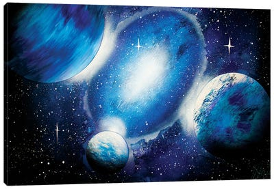 Deep Blue Space Canvas Art Print
