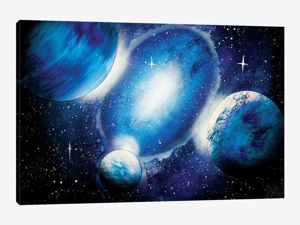 Deep Blue Space by Nicolay Homenko 1-piece Canvas Art