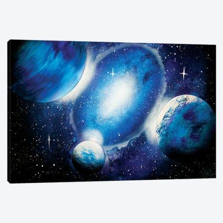 Deep Blue Space Canvas Print #HMK171} by Nicolay Homenko Canvas Wall Art