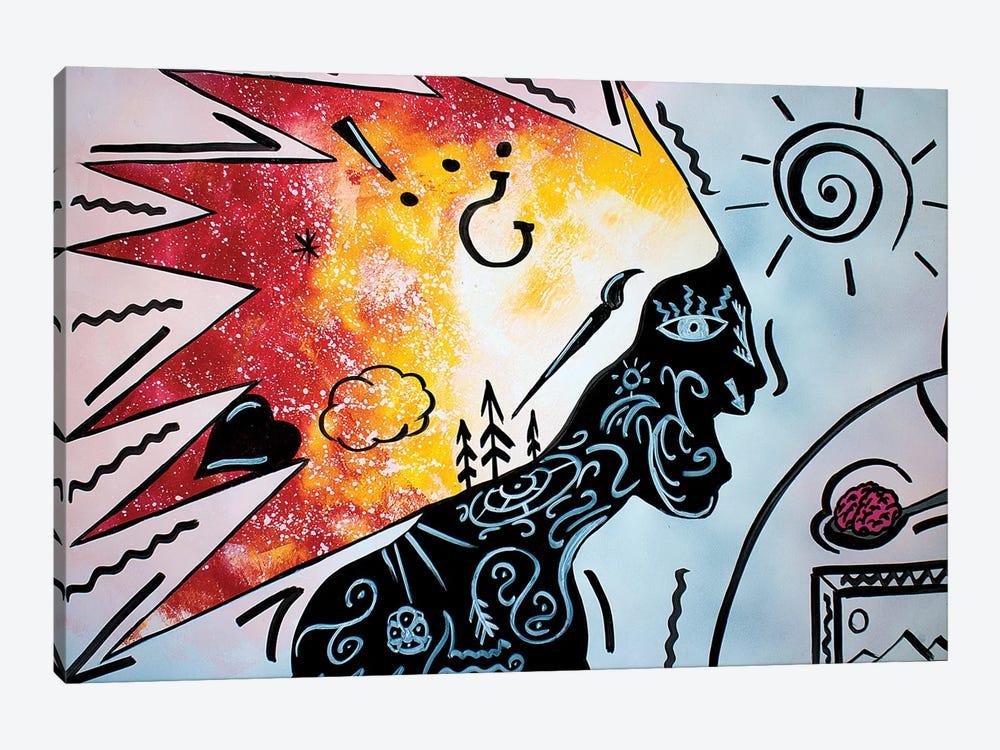 Eating Brains by Nicolay Homenko 1-piece Art Print