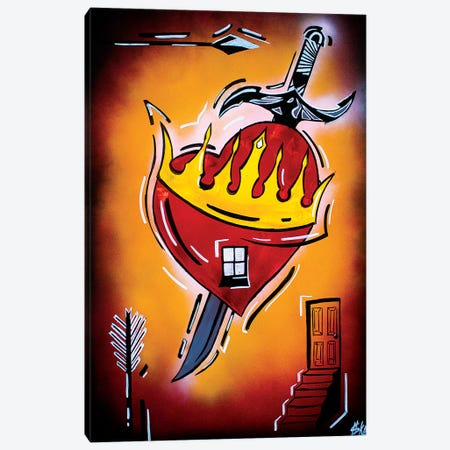 Heart With A Dagger Canvas Print #HMK176} by Nicolay Homenko Canvas Art Print