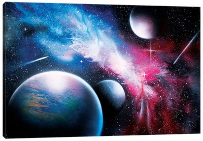 Hyperrealistic Space Canvas Art Print