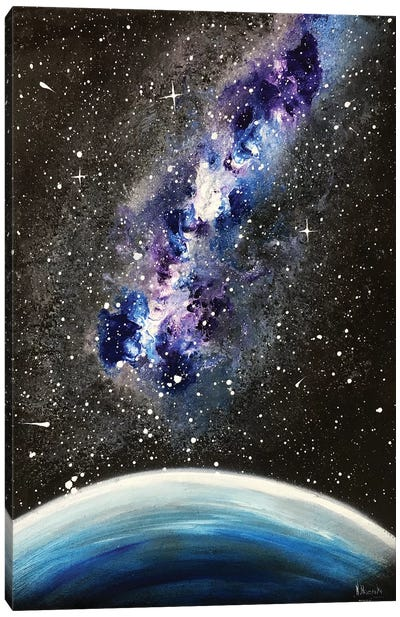 Blue Violet Nebula Canvas Art Print