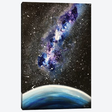 Blue Violet Nebula 3-Piece Canvas #HMK17} by Nicolay Homenko Canvas Wall Art