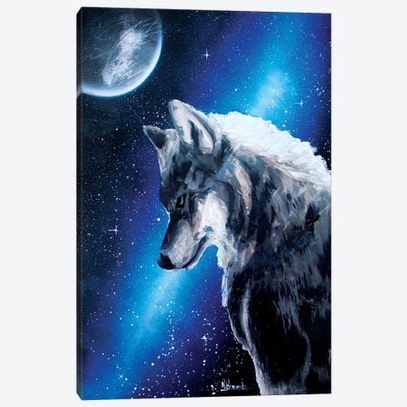 Night Wolf Canvas Print #HMK182} by Nicolay Homenko Canvas Art Print