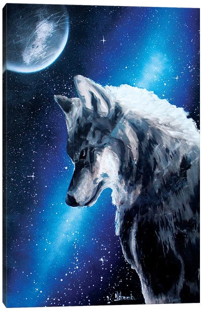 Night Wolf Canvas Art Print