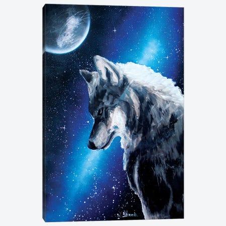 Night Wolf Canvas Print #HMK182} by Nicolay Homenko Canvas Art Print