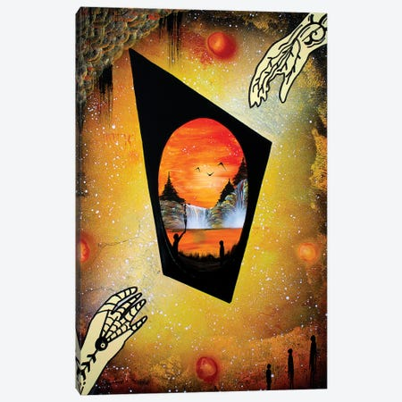 Orange Abstract Canvas Print #HMK183} by Nicolay Homenko Canvas Print