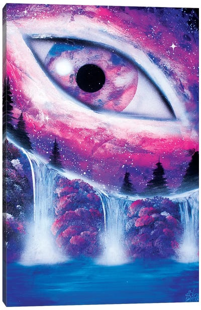 Space Eye In Purple Color Canvas Art Print
