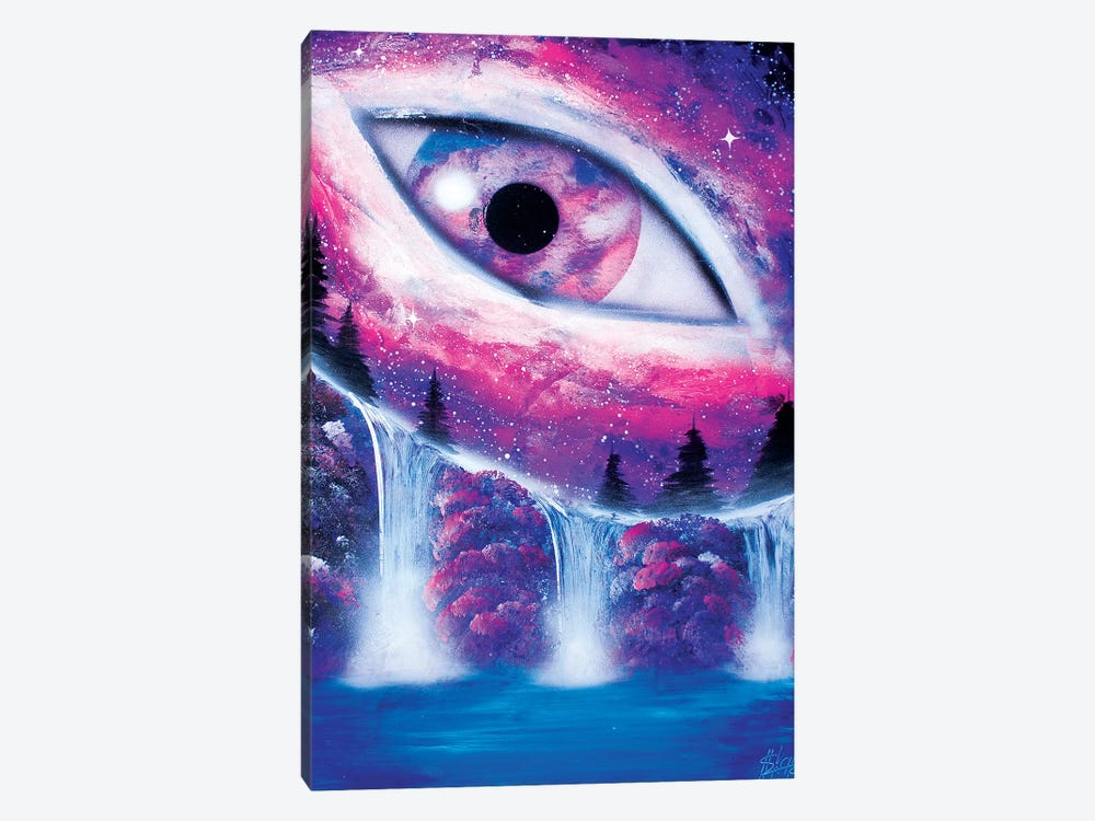 Space Eye In Purple Color by Nicolay Homenko 1-piece Canvas Print