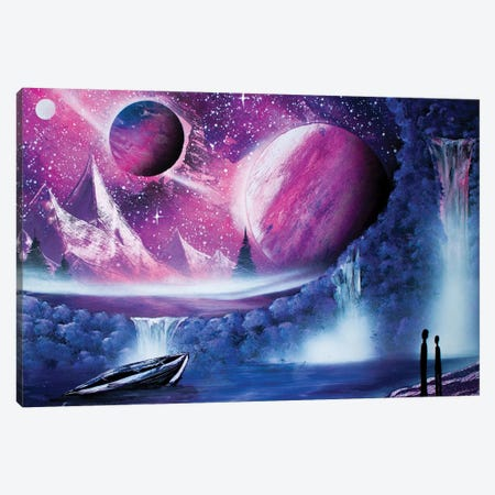Couple In Space Landscape Canvas Print #HMK190} by Nicolay Homenko Canvas Art