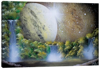 Light Brown Space Landscape Canvas Art Print