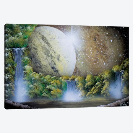 Light Brown Space Landscape Canvas Print #HMK191} by Nicolay Homenko Canvas Wall Art