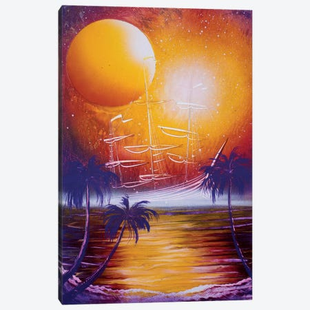 Orange Sun Canvas Print #HMK192} by Nicolay Homenko Canvas Art