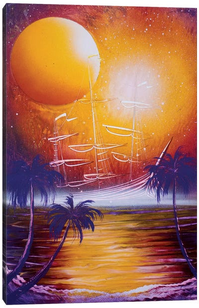 Orange Sun Canvas Art Print