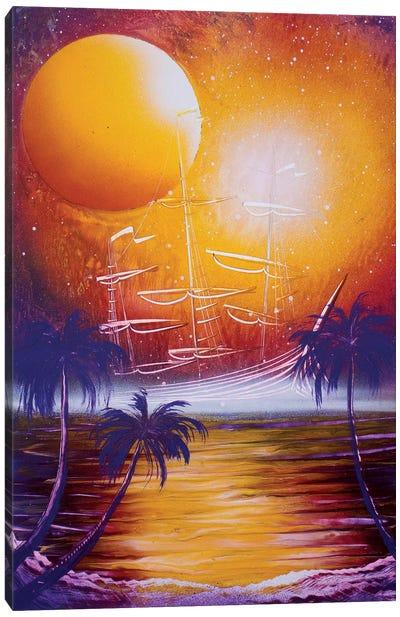 Orange Sun Canvas Art Print