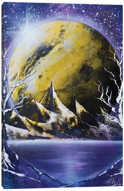 The Yellow Planet Canvas Art Print