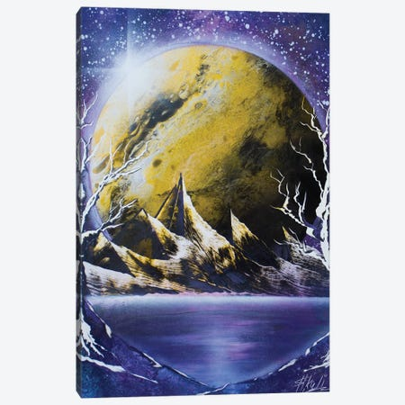 The Yellow Planet Canvas Print #HMK194} by Nicolay Homenko Art Print